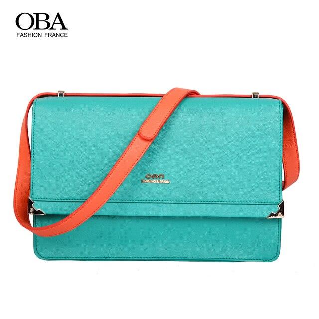 Summer new arrival oba2013 women's handbag small fresh preppy style color block messenger bag envelope bag 2259