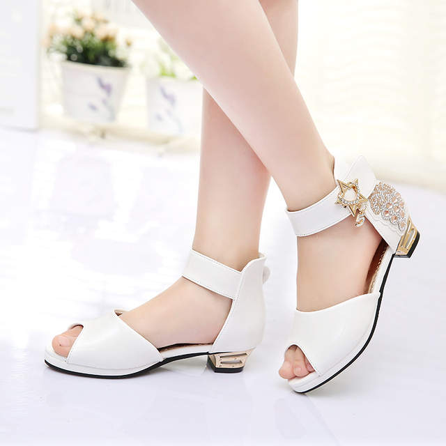 e9af70a196c SLYXSH 2019 Kids Girls Princess Sandals Diamonds High Heel Children Girl  Wedding Shoes Girl Dress Party Shoes For Girls