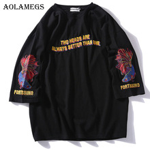Aolamegs T Shirt Men Japanese Fish Printed Mens Tee Shirts O-neck Hip Hop Streetwear Summer Fashion 2018 Tees