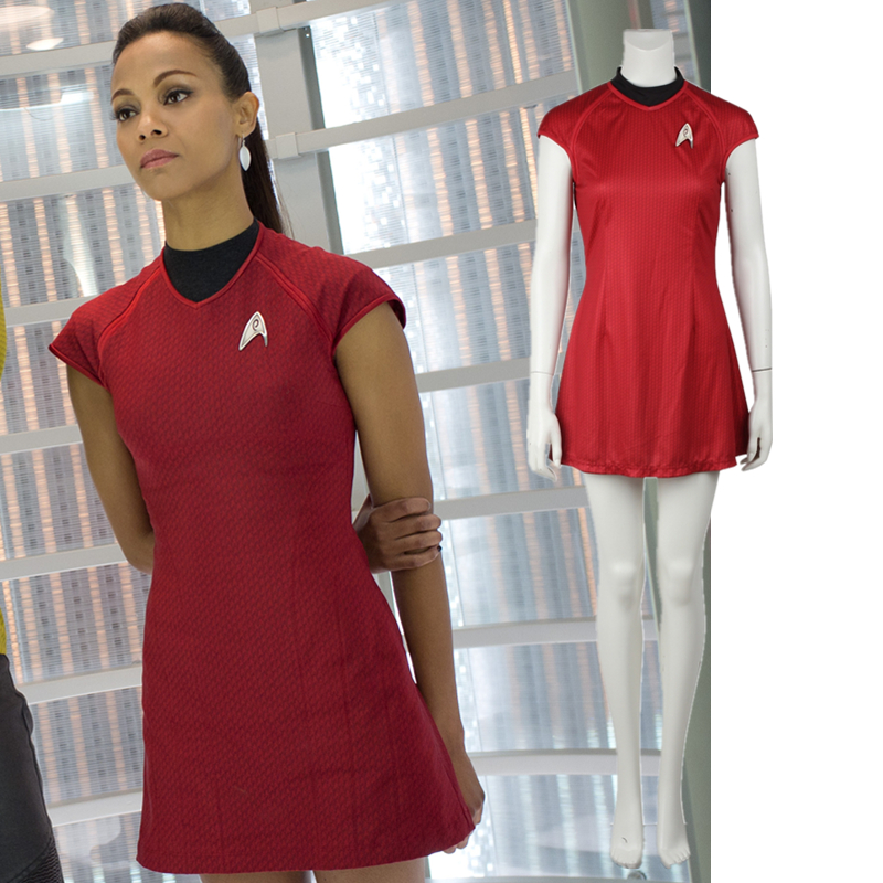 Star Trek Uniform Star Trek Into Darkness Nyota Uhura Dress Cosplay Costume Red Dress Halloween Costumes for Women-in Movie u0026 TV costumes from Novelty ...  sc 1 st  AliExpress.com & Star Trek Uniform Star Trek Into Darkness Nyota Uhura Dress Cosplay ...