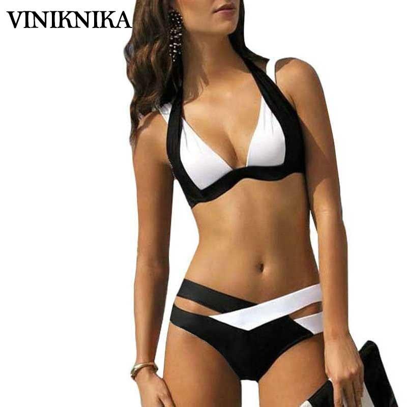 VINIKNIKA 2017 new split color female swimsuit cross sexy bikini ladies swimwear Top Beach wear Bathing Suits maillot de bain