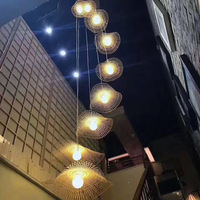 Vertigo Hanging Lamp For Dining room Bedroom Kitchen Bar bamboo rattan lamp Creative Personality wicker pendant lamp bamboo