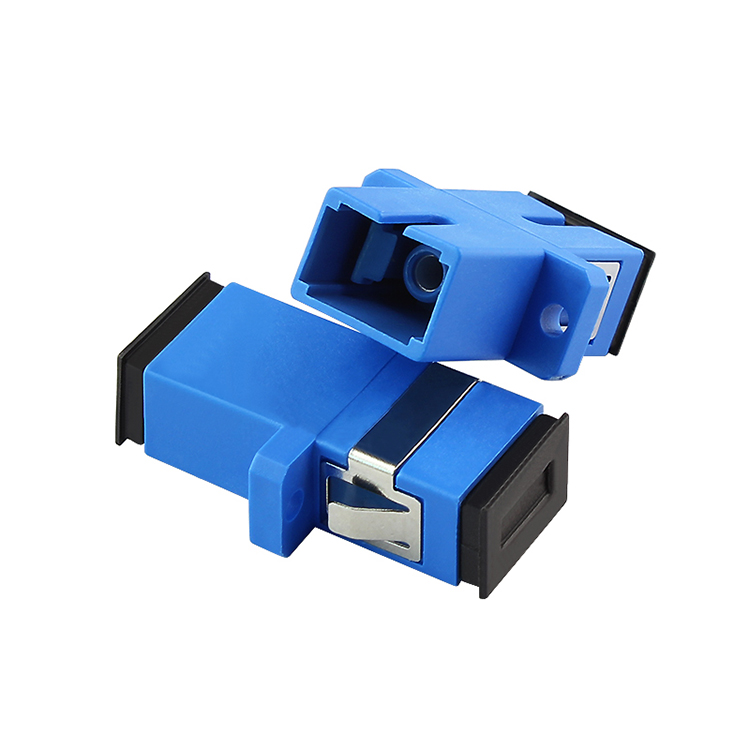 200pcs/lot New SC fiber optic adapter,SC flange coupler, SC/UPC adaptor, fiber coupler for digital communications