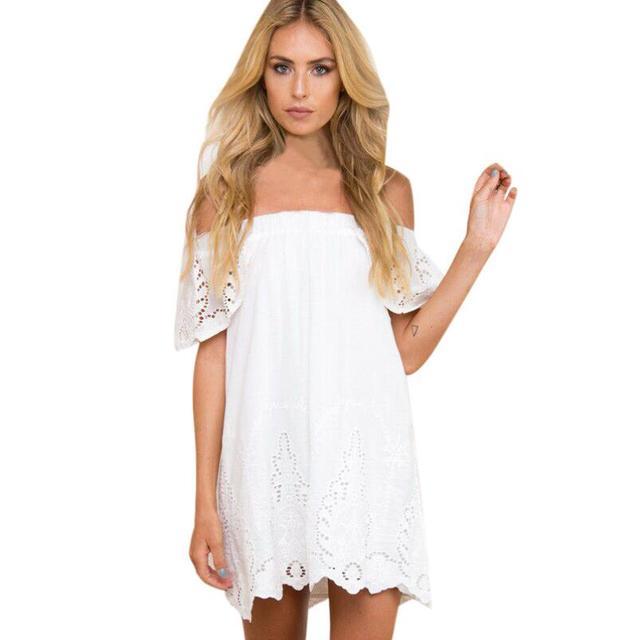 c8cfad399bb9d NewBeautiful ucuz elbiseler Moda Kadın Elbise Bayanlar Yaz Plaj Parti  Kapalı Omuz Mini zarif Elbise vestido