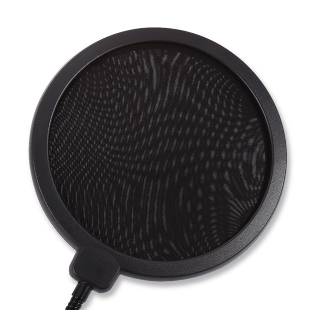 Professional Microphone Pop Filter Double Mesh Screen Windscreen Studio Equipment for Recording with Flexible Gooseneck Holder
