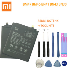 For Xiaomi Redmi 4A Note 3 Pro 3S 3X 4X Battery Hongmi S MTK Helio X20 4 global Snapdragon 625 Bateria +Tools