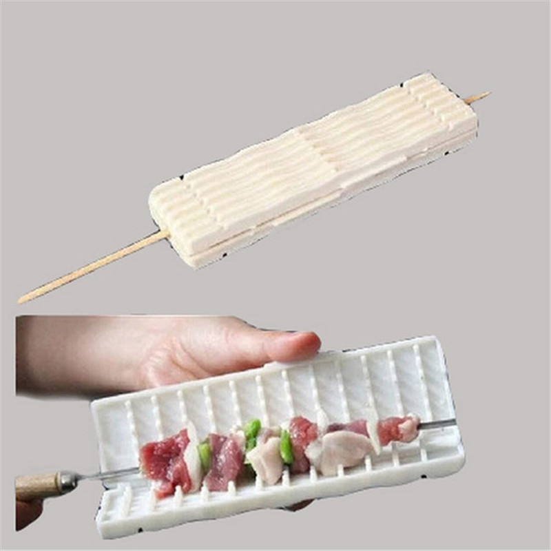 white-wear-string-BBQ-tools-Multi-function-barbecue-Skewer-machine-wear-meat-vegetable-string-cooking-accessories (6)