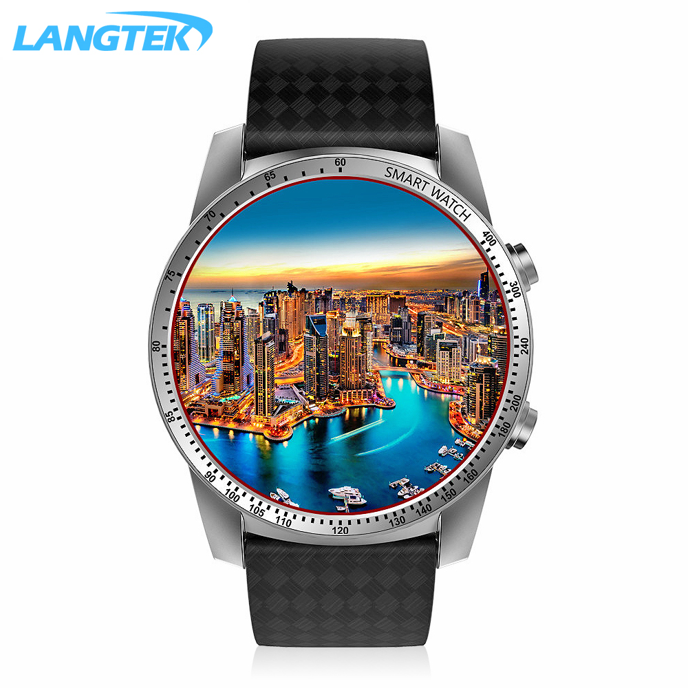 LANGTEK KW99 Smart Watch Android 5.1 OS MTK6580 Bluetooth 4.0 3G WIFI GPS ROM 8GB + RAM 512 MB Heart Rate Monitoring Smartwatch no 1 d6 1 63 inch 3g smartwatch phone android 5 1 mtk6580 quad core 1 3ghz 1gb ram gps wifi bluetooth 4 0 heart rate monitoring
