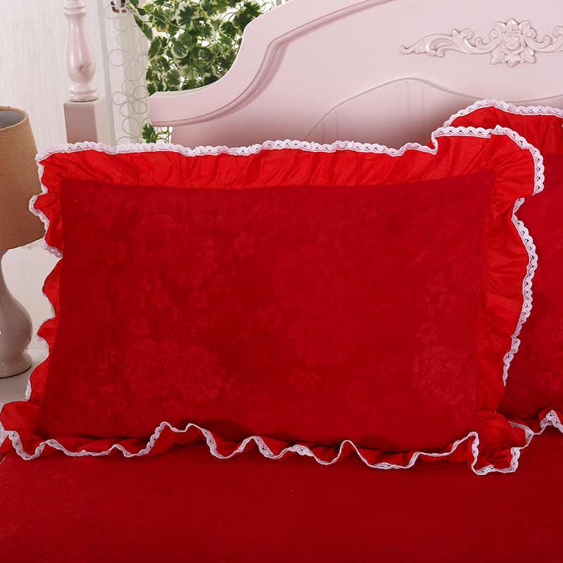Модные красные вина кристалл бархат домашний текстиль постельное белье 3 шт. Простыня из наволочки pillowcaseed пододеяльник + кровать крышка головки
