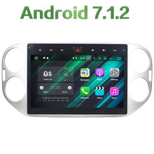 """Android 7.1.2 Quad Core 2GB RAM 16GB ROM 10.1"""" HD Car Radio GPS Navigation Player for Volkswagen Tiguan 2013-2015"""