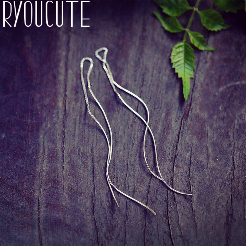 Trendy Vintage Line Earrings Femme Gifts Ladies Silver Color  Earrings For Women Statement Jewelry Brincos