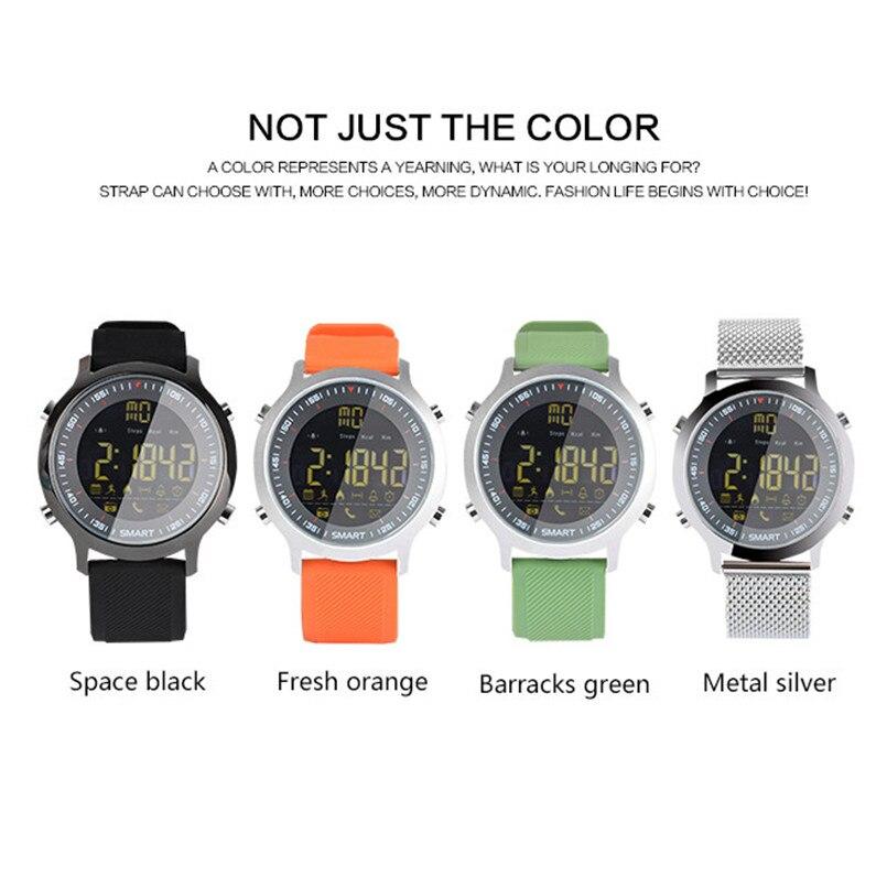 Высокое качество EX18 Smart спортивные часы Bluetooth 5ATM Водонепроницаемый MSN оповещения Sleep Monitor часы 2018 Новый Для женщин Для мужчин спортивные часы ...