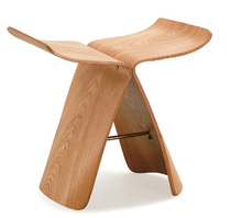 Free Shipping – Ash Wood  Butterfly Stool