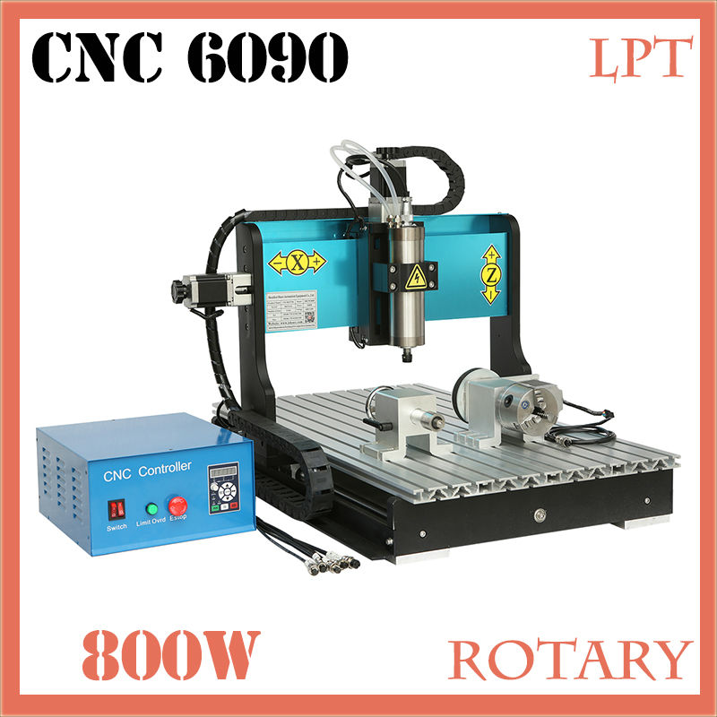 JFT New Inventions Best CNC Router High Efficient 4 Axis 800W CNC Router with Parallel Port 6090 2014 high quality new inventions crystal magic mirror lightbox led