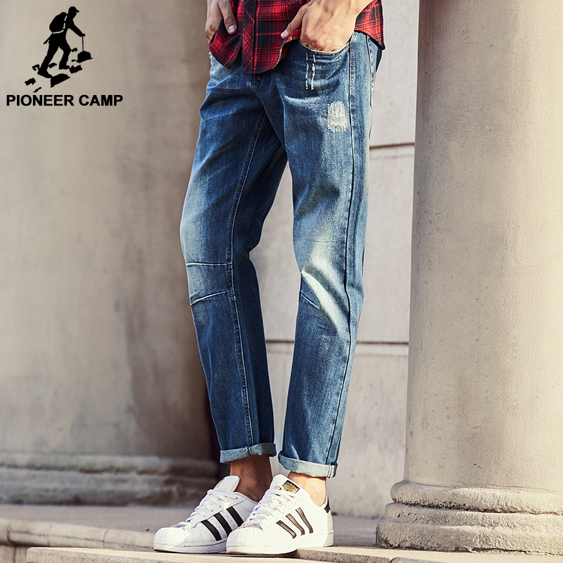 Pioneer Camp 2017 men fashion straight Jeans classic denim trousers fall winter  brand clothing high quality cotton jeans 611026 pioneer camp new summer thin jeans men brand clothing casual straight denim pants male top quality denim trousers anz703095