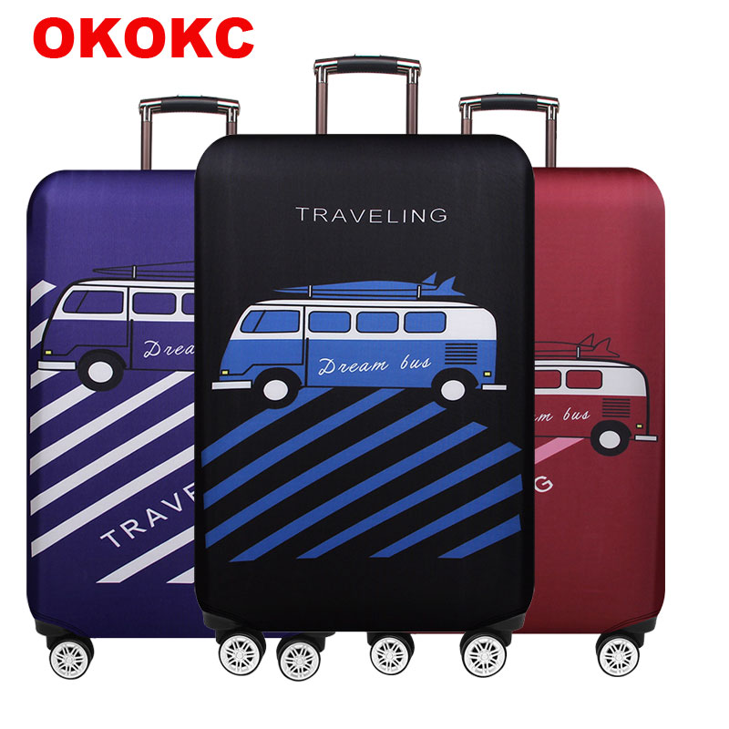 Bus Travel Luggage Suitcase Protective Cover, Stretch, For S / M / L / XL, Apply To 18-32 Inch Cases, Travel Accessorie