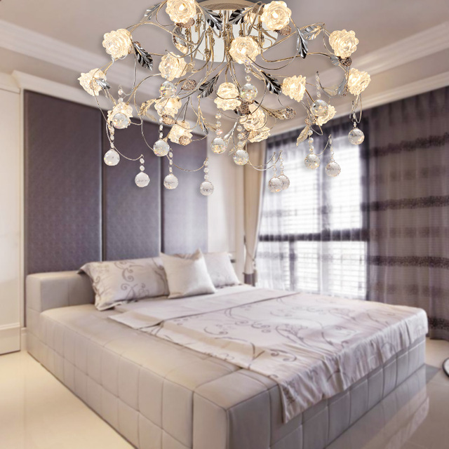 led bedroom ceiling lamp personality creative atmospheric European restaurant modern minimalist crystal lamp led lighting lamp