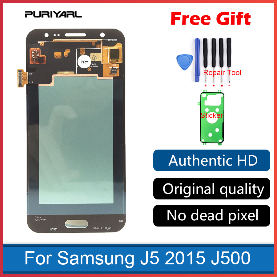 5.0 ''AAA AMOLED écran pour Samsung Galaxy J5 2015 J500 J500F J500FN J500H J500M LCD écran tactile numériseur remplacement