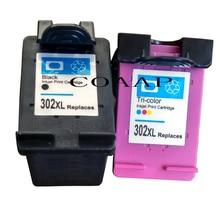 1 Set 2 Pack Ink Cartridges Remanufactured For HP 302 XL HP302 HP302XL 302XL for Deskjet 1111 1112 2130 2131 2132 3630 4250