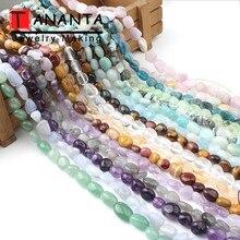купить 8-10mm Natural Irregular Amethysts Apatite Larimar Quartz Labradorite Stone Beads For Jewelry Making Diy Bracelet Necklace 15'' онлайн