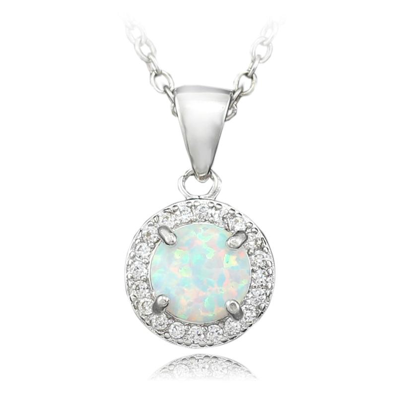 White Fire Opal Pendant For Girls Fashion Jewelry Women Opal Pendants 7/8 inch OP339 декор cifre ceramica opal decor opal grey 7 5x30