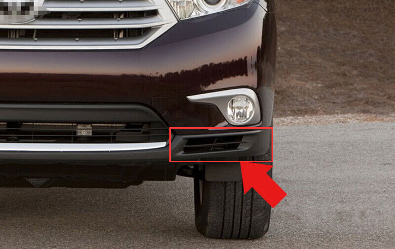 Yimaautotrims For Toyota Highlander 2011 2012 2013 Chrome Front Bottom Fog Light Lamp Cover Trim, Auto accessories