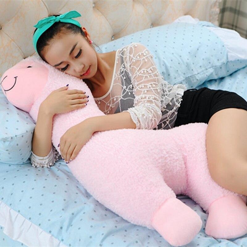 Dorimytrader Giant Soft Cartoon Alpaca Plush Pillow Big Stuffed Animal Sheep Doll Toy Great Gift 37inch 95cm DY61420
