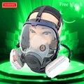 Industria de la Supervivencia de La Cara Llena De Gas Máscara de Seguridad Para Trabajo Filtro Respirador de Polvo Químico Pintura de Aerosol de la Máscara de Respiración de Plaguicidas-Gas-máscara