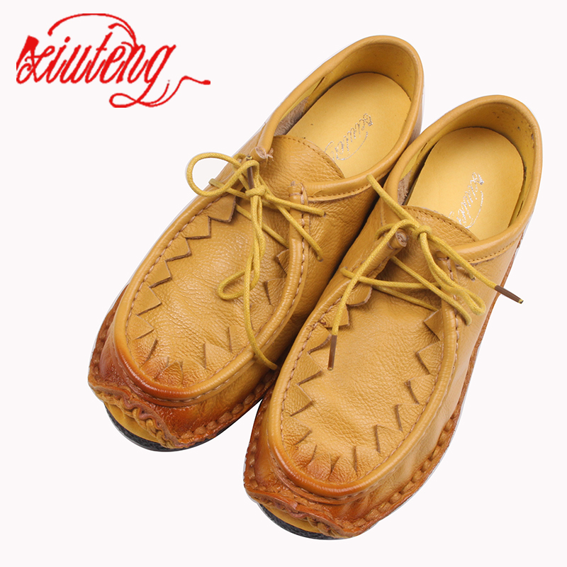 Xiuteng Soft Bottom Shoes Pregnant Women Shoe Mother Driving Shoe Female Moccasins Loafers Cow Muscle Outsole Casual Shoes Flats