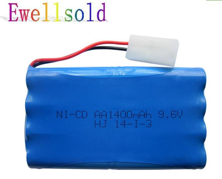 Ewellsold RC car RC truck RC boat RC tank 9.6v 1400mAh Ni-CD rechargeable battery free shipping mos rc airplane lipo battery 3s 11 1v 5200mah 40c for quadrotor rc boat rc car