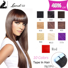 Top Skin Weft Laurel Hair Extensions Hot 7a Brazilian Unprocessed Virgin Hair Straight Tape On Human Hair Extensions 10colors