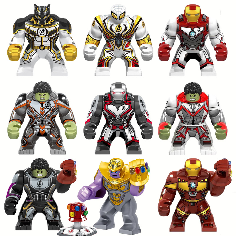 Super Heroes 4 Iron Man Hulk Thanos Infinity Gauntlet Figures Blocks Compatible Legoe Bricks Toys For Children