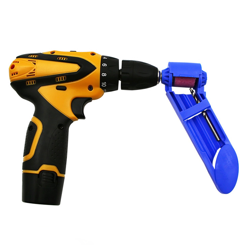 1 Set Portable Corundum Grinding Wheel Drill Bit Sharpener Titanium Drill Drill Bit Powered Tool Parts