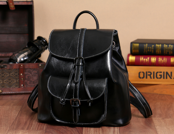 New Classic Genuine Leather Female Backpacks Casual Fashion Oil Wax Shoulder Bag Hot Large Capacity Teenager Girl Schoolbag C140 2017 classic fashion new women backpacks