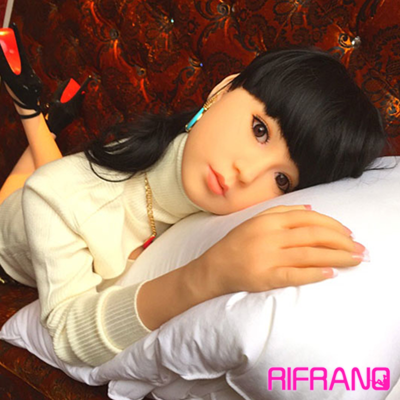 Rifrano real silicone font b sex b font font b dolls b font with skeleton 140cm