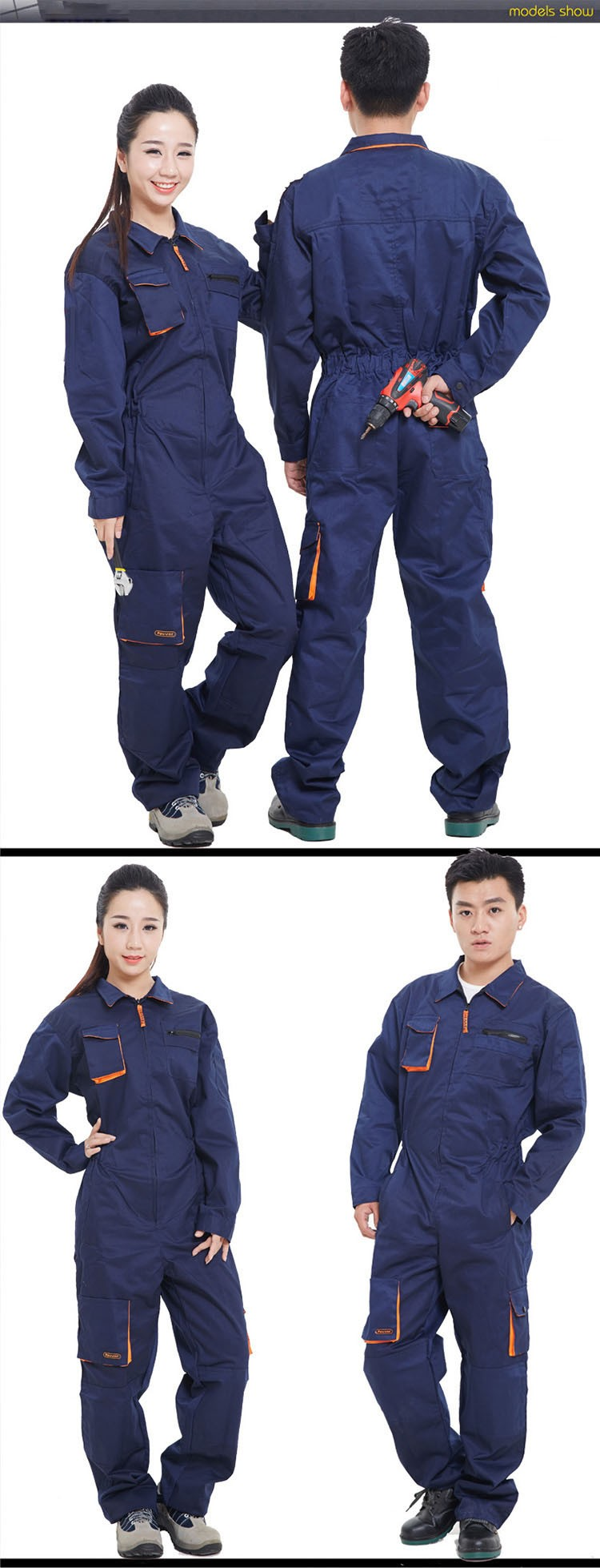 Mens Work Clothing Long Sleeve Coveralls High Quality Overalls Worker Repairman Machine Auto Repair Electric Welding Plus Size (10)