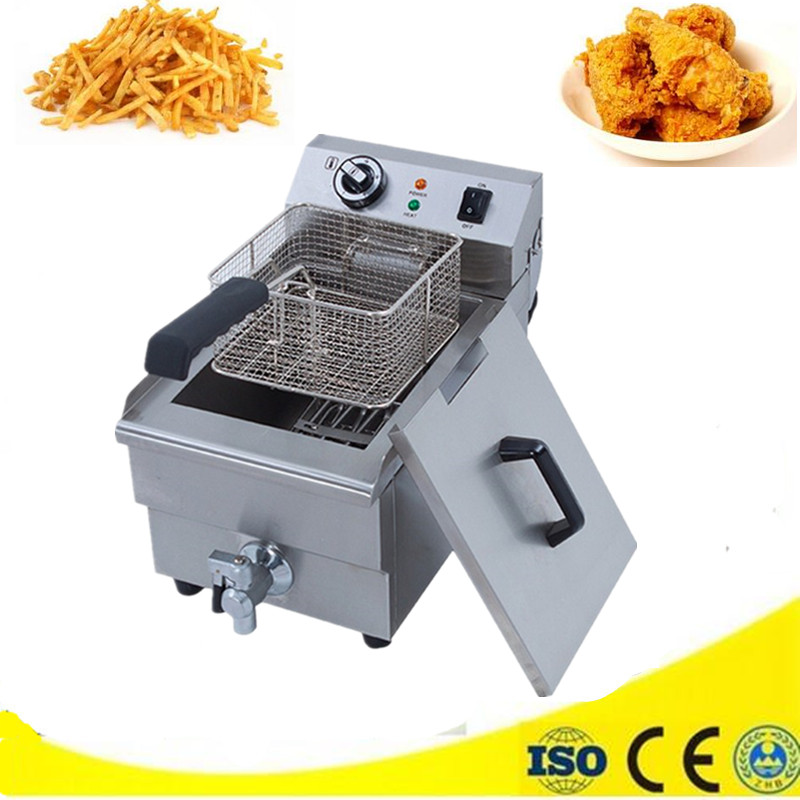 Hot sale heating deep fryer commercial fried chicken potato frying machine with fry baskets deep fryer shipule fast food restaurant 30l commercial electric chicken deep fryer commercial potato chips deep fryer frying machine
