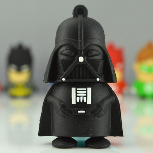 16GB 32GB Memory Stick USB 3.0 Flash Drive 512GB Pendrive 128GB Cartoon Darth Vader USB Stick Disk Card Key Creativo Gift 64GB