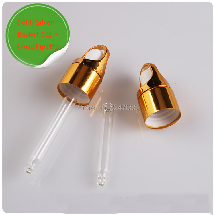 50pcs 100pcs 18mm Neck Size Basket Cap with Glass Pipette, Essential Oil Accessories Caps,Glass Dropper for Essential Oil Bottle 1000mg 100 pcs fish oil bottle for health capsules omega 3 dha epa with free shipping
