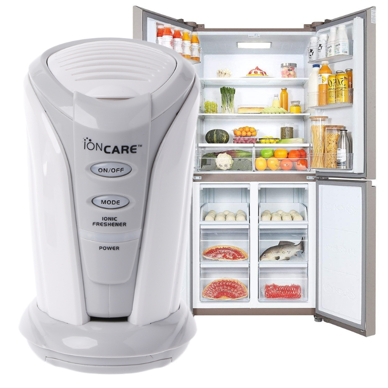 Battery Powered Ozone Air Purifier and Fresh Deodorizer for refrigerator and closets with colored LED 2