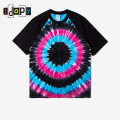 Men's Summer Fashion Short Sleeve T Shirt Spiral Star Ray Colorful Tops Hipster Skateboard Streetwear Tie Dye T-shirt For Men