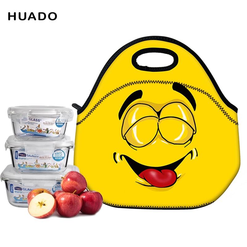 ▻Portátil de dibujos animados Linda bolsa de almuerzo aislados ...