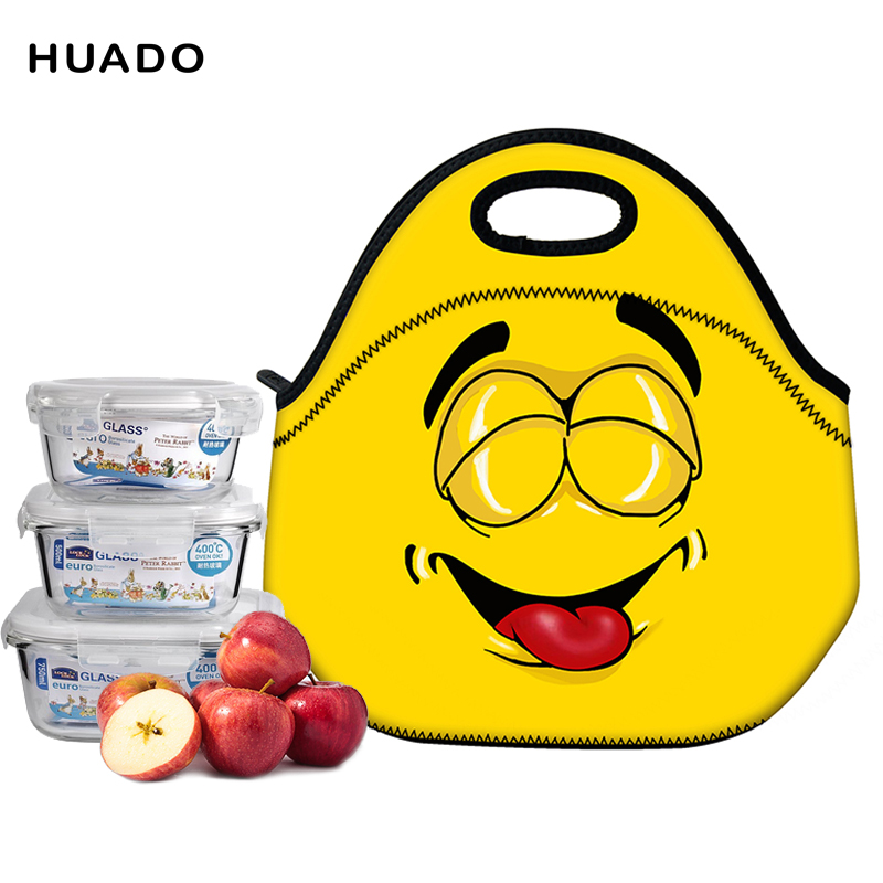 Portable Cartoon Cute Lunch Bag Insulated Cold Picnic Totes Carry Case For Kids Women Thermal Bag