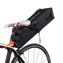 10L Cycling Large Capacity Bicycle Saddle Bag With Reflective Strip Mountain Bike Seatpost Bag Upgraded Long