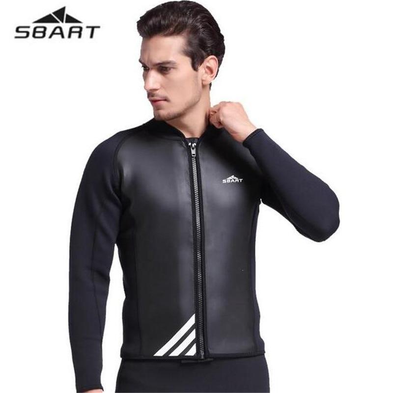 SBART New Neoprene Wetsuits Pearfishing 2MM Scuba Diving Long Sleeve Surf Jacket Top Men Board Surfing Wetsuits Neoprene O940 sbart upf50 806 xuancai