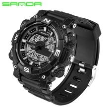 SANDA Militaire Sport Montre Hommes Top Marque De Luxe Célèbre Électronique LED Numérique Montre-Bracelet Pour Hommes Homme Horloge Relogio Masculino