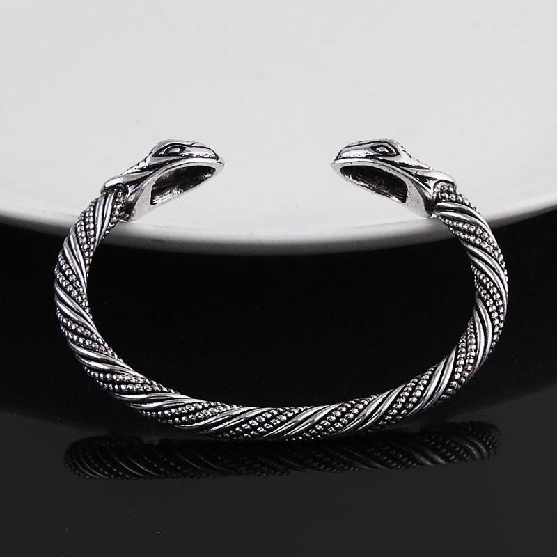 Bracelet Viking tête serpent  2