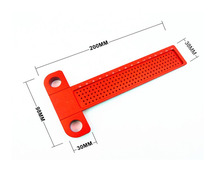 1PC Woodworking scribe Aluminum Precision Woodworking T-Square measuring tools crossed ruler
