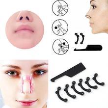 6PCS/Set 3 Sizes Beauty Nose Up Lifting Bridge Shaper Massage Tool No Pain Nose