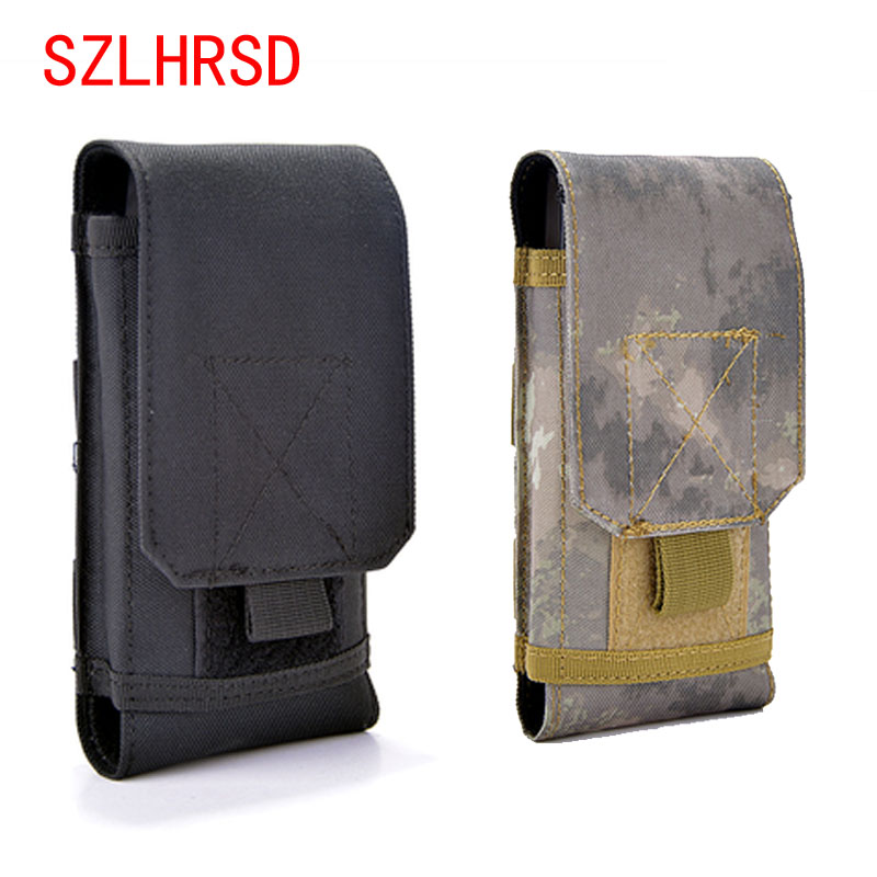 SZLHRSD Outdoor Phone Case For Elephone A2 Pro P11 P12 Universal Military Tactical Holster Belt Bag Waist teXet TM-5570 cover